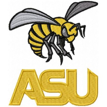Alabama State Hornets logo machine embroidery design for instant download